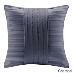 This pleated charmeuse square pillow adds style and luxury into any room. The detail of fabric manipulation in pleating and pintucking create a dimensional look.