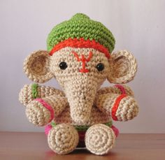 Go Around the World Seven Times With Ganesha – FREE crochet patterns! #knit #crochet