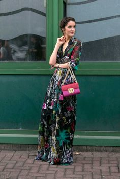 On the street at London Fashion Week. Photo: Emily Malan/Fashionista.