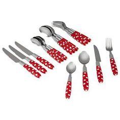 16-Piece Tortolla Flatware Set in Red