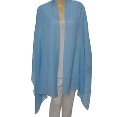 100% pure pashmina cashmere fabric; no blending.Size: 80 inches x 28 inches, Weight : 100 grams!Color : Base color Sky Blue.Always dry clean only. No hand or machine washesHandcrafted by the artisans of Kashmir in India.This item can be shipped to