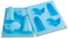 Moule à gâteaux en silicone thème à la mer