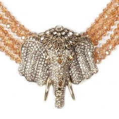 """""""Chic Sheik"""" 5-Row Beaded Crystal Drop Necklace Crystal Golden Shadow - Heidi Exclusive - What's New 