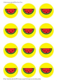 Adesivos para garrafinha Ouro Fino 1st Birthday Party Themes, Birthday Cupcakes, Happy Birthday, Fruit Party, Printable Paper, Watermelon, Christmas Crafts, Lily, Make It Yourself