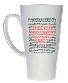 Binary Heart Coffee or Tea Mug, Latte Size