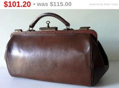 SALE ON 1 WEEK Stunning Antique French Leather by Decofanatique
