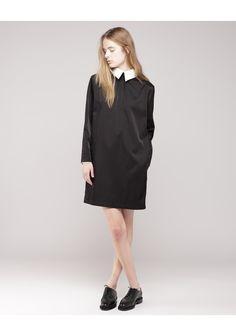 Limi Feu /  Contrast Collar Dress