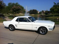 1966 Ford Mustang. So hot. The first year it became its own car and not just put on the chassis of a Falcon.