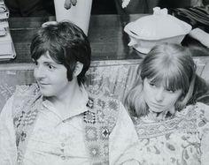Paul McCartney and Jane Asher {India 1968}