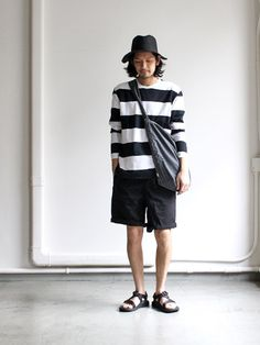 maillot Wide Pitch Border Rib Long Tee