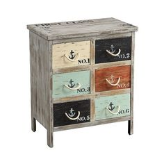 Storage Chest: Storage Cabinet Coastal Colored Drawer- Christopher... (435 CAD) ❤ liked on Polyvore featuring home, furniture, storage & shelves, dressers, drawer dresser, coastal cottage furniture, colorful furniture, multi color dresser and drawer furniture