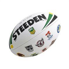 Steeden All Team Logo Ball Size 5 - Fitness Mania Australian Rugby League, National Rugby League, Health Logo, Basketball Teams, Basketball Court, Soccer Ball, Team Logo, Football, Logos