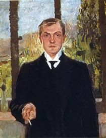 Self-Portrait in Florence - Max Beckmann