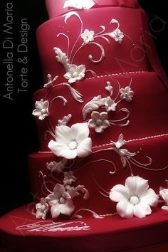 #red wedding cake ... Wedding ideas for brides & bridesmaids, grooms & groomsmen, parents & planners ... https://itunes.apple.com/us/app/the-gold-wedding-planner/id498112599?ls=1=8 … plus how to organise an entire wedding, without overspending ♥ The Gold Wedding Planner iPhone App ♥