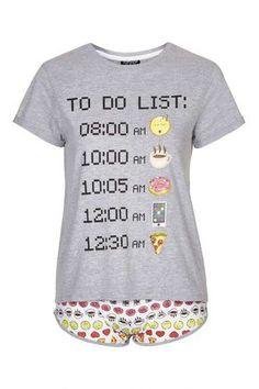 Emoji Pyjama Set - Nightwear - Clothing - Topshop Like and Repin.  Noelito Flow instagram http://www.instagram.com/noelitoflow