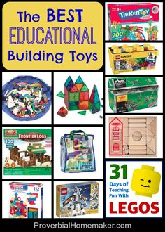 Toys that invest in our children's future! Gift Guide for Young Builders Montessori Activities, Toddler Activities, Activities For Kids, Stem Activities, Montessori Toddler, Best Educational Toys, Educational Activities, Felt Books, Baby Books