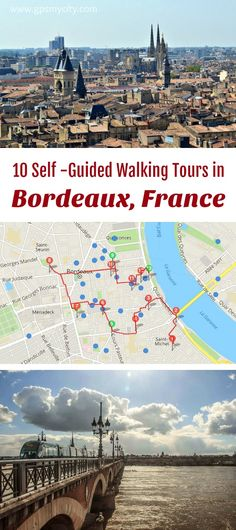 10 expert designed self-guided walking tours in Bordeaux, France to explore the city on foot at your own pace. Each walk comes with a detailed tour map and together they are the perfect Bordeaux city guide for your trip. Europe Travel Tips, European Travel, Travel Destinations, Budget Travel, Bordeux France, Aquitaine, Tours France, Belle Villa, Visit France