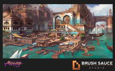 some Original designs for the docks level. View the fly through here by jason lavoie https://www.artstation.com/artwork/RzX9O