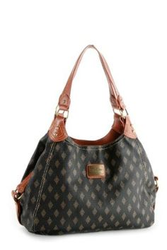 Patzino Signature Diamond Edition women's Black/Brown Designer Inspired Shopper Double Handle Hobo on amazon today for just $20.99 ON SALE & eligible for FREE Shipping on orders over $25 find it on amazon here by clicking on the picture. see more great bags at http://www.ddsgiftshop.com/shoes-and-handbags