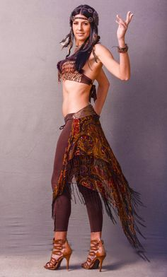 Gypsy Festival Bustle Belt Skirt One Of A Kind by gypsecouture