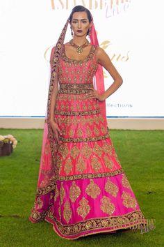 Hot pink Bridal Lengha Sharons Couture-INDIAN-PAKISTANI-WEDDING-FASHION