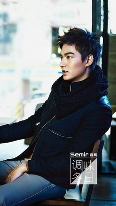 Lee Min Ho...his face, his hair, and goodness the way he's sitting. I need this in my life!!