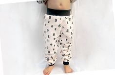 Items similar to FW Numers in Oatmeal - Cuff Pants for Infant and Toddler (Sizes: Newborn - on Etsy Cuffed Pants, Harem Pants, Fleece Pants, Newborns, French Terry, Number, Trending Outfits, Unique, Kids