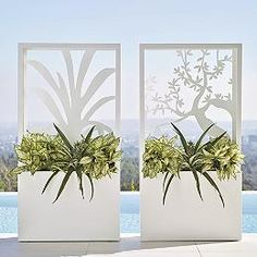 Olive Tree Partition Planter by Porta Forma - Frontgate Rectangular Planters, Tall Planters, Outdoor Planters, Outdoor Decor, Garden Urns, Garden Planters, Lawn And Garden, Modern Outdoor Living, Deco Restaurant