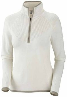 Comfortable sweater with sporty feminine fit....very cute!