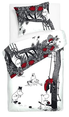 We have a great selection of bedroom items such as Moomin lamps and Moomin duvet covers in both black and white and color. Browse all Moomin bedroom products below. Duvet Sets, Duvet Cover Sets, Moomin Books, Moomin Mugs, Moomin Valley, Tove Jansson, White Sheets, Bed Covers, Pillow Covers