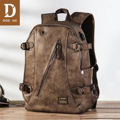 Industrious 2017 Brand Designer Laptop Backpack Men Pu Leather Backpacks For Teenager Casual Daypacks Solid Black Brown Travel Bagpack Wide Varieties Backpacks