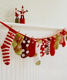 Decorate with Homemade Christmas Stockings
