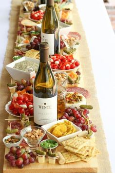 How To Make Antipasto Board Table Runner (Antipasti Platter) - This Is A Simple . - How To Make Antipasto Board Table Runner (Antipasti Platter) – This is a simple tutorial on how t - Snacks Für Party, Appetizers For Party, Appetizer Recipes, Wine Appetizers, Party Canapes, Appetizer Buffet, Cheese Appetizers, Party Drinks, Recipes Dinner