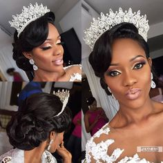 Oh that bridal crown! Folasade Hair Makeup … – M Oh that bridal crown! Folasade Hair Makeup … Oh that bridal crown! Black Brides Hairstyles, Wedding Hairstyles With Crown, Elegant Hairstyles, Girl Hairstyles, Arabic Hairstyles, Bridal Hair And Makeup, Bride Makeup, Wedding Makeup, Hair Makeup