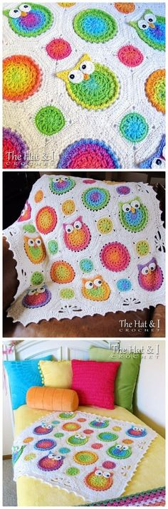 What could be cuter than a hooter! These beautiful crochet owl pattern blanket ideas are full of color and adorable owls!