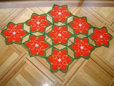 Como hacer camino de mesa a crochet paso a paso DIY, My Crafts and DIY Projects Crochet Doilies, Crochet Flowers, Crochet Table Runner Pattern, Christmas Crochet Patterns, Christmas Decorations, Holiday Decor, Margarita, Table Runners, Halloween