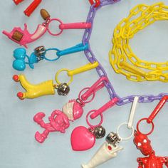 Classic 1980's collectible plastic charms!