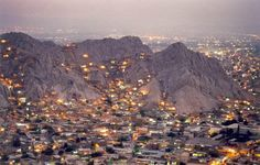 Village of Quetta at night, Balochistan, Pakistan. Quetta is the provincial capital of Balochistan province of Pakistan and is the largest city in the province.