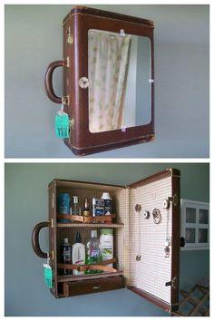 ¿Una vieja maleta o un mueble vintage?