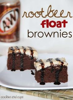 Root Beer float Brownies Recipe. Such a great option for desserts...mmm or with ice cream!