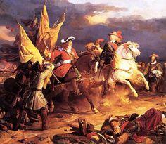 El Duque de Vendôme y Felipe V (Batalla de Villaviciosa, 10 de diciembre de 1710)