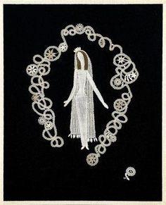 Elena Holéczyová - Google 検索 Textile Patterns, Textiles, Lace Making, Bobbin Lace, Needlework, Embroidery, Google, Fabric, Tejido