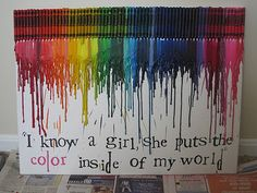 I've already made a crayon thing like this...but I never thought about putting words on it!  UGH!  Will have to make another  :)