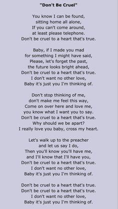 Elvis Presley Don T Be Cruel Elvis Presley Lyrics Elvis Lyrics Elvis Presley