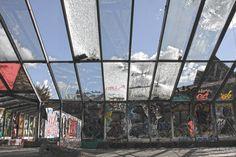 Berlin Blub (abandoned spa) #BrokenGlass #BlueSky #Berlin