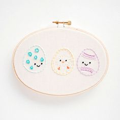Stitch these cute little Easter eggs from a free pattern, and learn a new stitch!  For crafts with my granddaughter