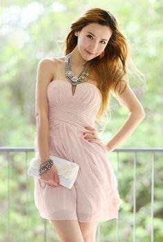 Sweetheart Pink Prom Dress