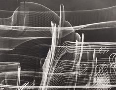 Carlotta Corpron, A Walk in Fair Park, Dallas, 1948 Fair Park Dallas, Line Photography, Moholy Nagy, Light Trails, Light And Space, Dark Backgrounds, Art Museum, Still Life, Abstract