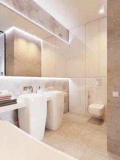 Эта полная света квартира была спроектирована дизайнерами Dima Kravtsov и Alina Buligina