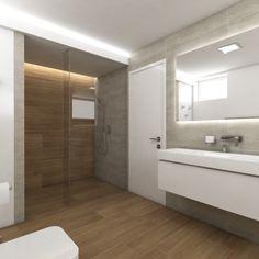 Moderní koupelna STANTON - Pohled od toalety